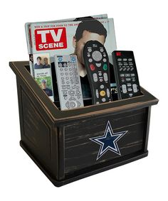 Look at this Dallas Cowboys Distressed Media Organizer on #zulily today!