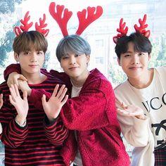 Jeon Jungkook, Park Jimin and Jung Hoseok (Christmas edition)