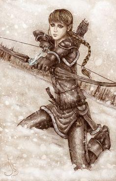 The arcane archer by Isbjorg on deviantART