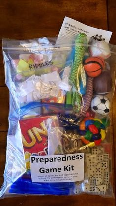 Purpose Driven Motherhood: Make a Preparedness FUN Kit!