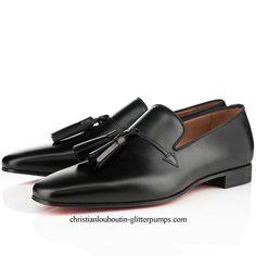 Christian Louboutin Daddy Men's Flat Leather Sneakers Black Christian Louboutin #PurelyInspiration