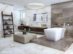 NÁVRH KÚPEĽNE - Fotogaléria, šikovné riešenia kúpeľní / BENEVA Bathtub, Bathroom, Atelier, Standing Bath, Washroom, Bathtubs, Bath Tube, Full Bath, Bath