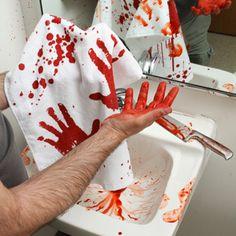 Blood Bath Bloody Hand Towel