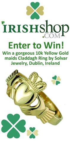 Get in to #Win a 10K Yellow #Gold Maids Irish Calddagh #Ring! #sweeps #contest VALID UNTIL NOV 30