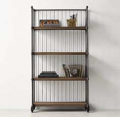 Industrial Bindery Cart Wide Bookcase - This would be PERFECT for that nook in the living room!!!