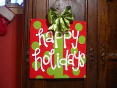 Christmas door hanger!