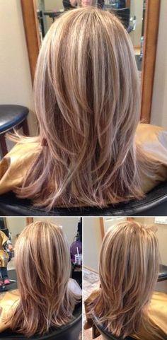 Medium Length Hair With Layers, Medium Hair Cuts, Medium Hair Styles, Short Hair Styles, Long Pixie Hairstyles, Mom Hairstyles, Chin Length Hair, Hair Color Shades, Beautiful Hair Color