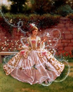 """""""Cinderella"""" by Ruth Sanderson Limited Edition Giclée print available at the R. Michelson Galleries."""