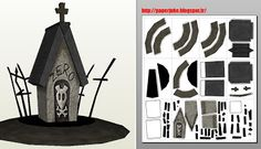 The Nightmare Before Christmas – Zero's House Free Papercraft - Papermodeler Halloween Village, Halloween Haunted Houses, Holidays Halloween, Fall Halloween, Halloween Crafts, Halloween Decorations, Christmas Paper, Christmas Projects, Christmas Houses