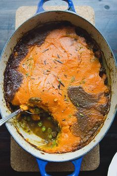 Curried Shepherd's Pie With Sweet Potato Mash //