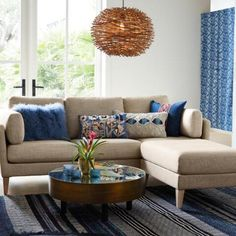 Wicker Nest Pendant Lamp | World Market Living Furniture, Furniture Design, Unique Coffee Table, Condo Living, Living Room, Furniture Market, Affordable Home Decor, New Home Designs, Hammered Silver