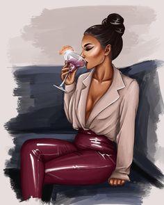 Selina Kyle at the Kit Kat Club Black Love Art, Black Girl Art, Black Is Beautiful, Black Girl Magic, Art Girl, Fashion Illustration Sketches, Fashion Sketches, Illustration Art, Mode Poster
