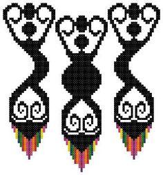 Modern Goddesses Counted Cross Stitch by crochetcronesdesigns, $3.00