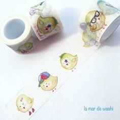 Que no te monten un pollo! Y si te lo montan tómatelo lo mejor posible con este Washi Tape de graciosos pollitos.