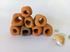 Surf Tumbled Holey Brick Shards, 8 Pieces Mosaic Supplies, Art Projects, Brick, Surfing, Pottery, Sea, Artist, Crafts, Etsy