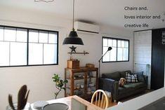 原状回復可能!DIYでおしゃれな内窓を作ろう!その③ 完成編♪ : Chairs and.ナチュラルなインテリアと雑貨と手作りと、日々のこと。 Decor, Diy And Crafts, Interior, Ceiling Lights, Ceiling, Chair, Home Decor, Pendant Light, Interior Design