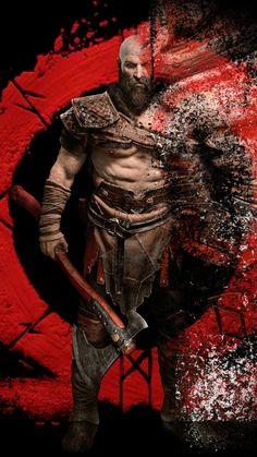 Kratos, warrior, digital art, God of War, 720x1280 wallpaper