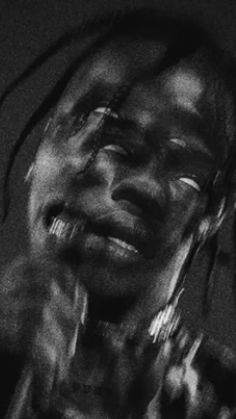Travis Scott Iphone Wallpaper, Travis Scott Wallpapers, Rapper Wallpaper Iphone, Hype Wallpaper, Black Wallpaper, Travis Scott Art, Travis Scott Fashion, Black And White Picture Wall, Black And White Pictures