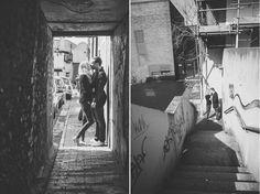 Urban engagement shoot / couple session photos. Photos by UK wedding photographer Emma Lucy