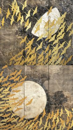 加山又造 / 千羽鶴 | 壁紙ギャラリー KAGIROHI Japanese Woodcut, Japan Painting, Japanese Quilts, Organic Art, Collor, Korean Art, Japan Art, Bird Art, Unique Art