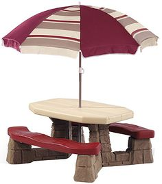 """Step2 Naturally Playful Picnic Table With Umbrella - Step2 - Toys """"R"""" Us"""