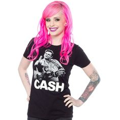JOHNNY CASH THE BIRD TEE $25.00 #cash #johnnycash #rockabilly