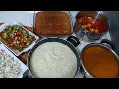Kısa Sürede Çok Çeşitli İftar Menüsü (6 Çeşit)/Çorba/Ana Yemek/Pilav/2 Salata/Tatlı/Seval Mutfakta - YouTube Iftar, Palak Paneer, Cornbread, Feel Good, Pudding, Ethnic Recipes, Desserts, Food, Youtube