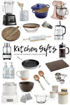 Kitchen gifts for any occasion! See our list of useful kitchen gift ideas, including must have kitchen gadgets, tools, serving pieces and more! So many hostess gift ideas perfect for the entertainer, chef or foodie in your life! Kitchen Utensils, Kitchen Tools, Kitchen Appliances, Chef Kitchen, Kitchen Products, Kitchen Gifts, Kitchen Decor, Kitchen Items List, Must Have Kitchen Gadgets