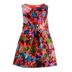 Too pretty to pass up - we'll make the colors work! Girls' flame floral dress $78