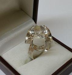 Vintage Ringe - Ring Silber 835 Design Kristall extravagant SR492 - ein Designerstück von Atelier-Regina bei DaWanda