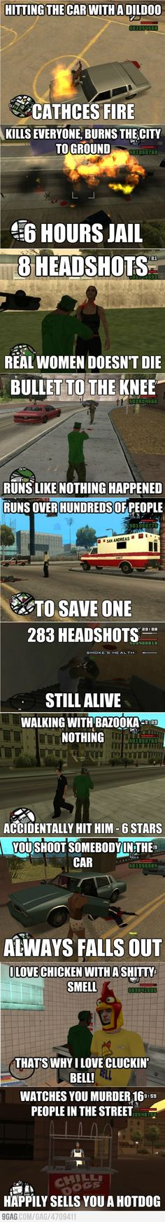 GTA SA logic...bahahhah! love this gameeee!