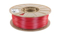 Starch-based 3D printing filament, Biome 3D, in Strawberry Red www.cleanstrands.com