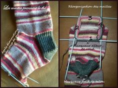 Tricoter ses chaussettes - Le sigrimoire Loom Knitting Patterns, Knitting Videos, Easy Knitting, Knitting Socks, Knitting Designs, Knitted Hats Kids, Knitted Blankets, Knitted Christmas Stockings, Christmas Knitting