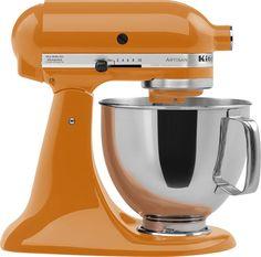 KitchenAid - Artisan Series Tilt-Head Stand Mixer - Tangerine (Orange), KSM150PSTG