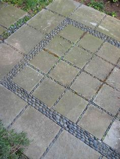 Stone Mosaic Patio Garden Design ~ Someday...if I have the time or get bored!