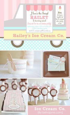 Ice Cream Parlour Party: printable collection