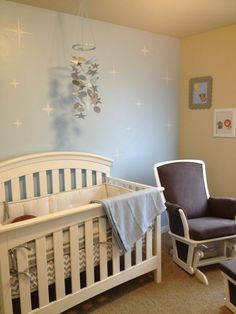 Twinkle, Twinkle Little Star Accent Wall in the Nursery