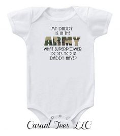 Airforce Baby - Daddy is in the Airforce but Mommy is the Boss Funny Baby Boy / Girl Baby Bodysuit or Toddler Tee Cute Baby Clothes, Baby & Toddler Clothing, Army Baby, Baby Cooking, Baby Boy Newborn, Baby Daddy, Baby Girls, Funny Babies, Mom Funny