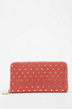Deux Lux Polka Dot Zip-Around Wallet