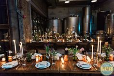 Some wedding guests will be seated in Brooklyn Winery's Harvest Room, where they'll get an awesome up-close view of the vats where wine is stored.