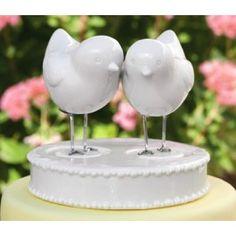 // Love Bird Figurines and Base Wedding Cake Topper