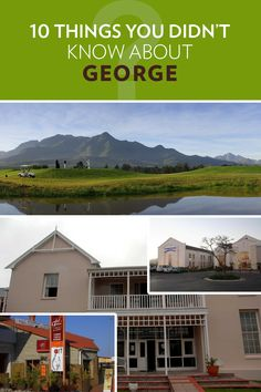 10 things you probably didn't know about George! George South Africa, Stuff To Do, Things To Do, Mansions, House Styles, Home Decor, Mansion Houses, Things To Make, Room Decor