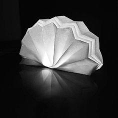tischlampen faltbar papierleuchten originell weiß