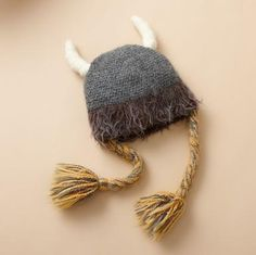 VIKING GIRL HAT: Warm, whimsical, hirsute, this limited edition headwear befits not clashing warriors but the Nordic goddesses they dream about. Nordic Goddesses, Band Mom, Cute Little Things, Niece And Nephew, Girl With Hat, Needle Felting, Crochet Projects, New Baby Products, Women Accessories