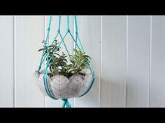 Make a Macramé Plant Hanger in Minutes