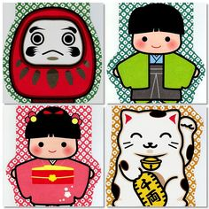 """Mini Japanese Envelopes  Note..;.. They are """"Otoshidama"""" envelopes. Otoshidama is money given to children as a gift for the New Year.Kawaii!"""