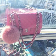 FA$HION & PRETTY THING$ Chanel Bags, Chanel Handbags, Coco Chanel, Pink Chanel Bag, Purses And Handbags, Leather Handbags, Bling Bling, Fashion Black, Pink Fashion