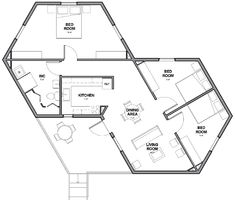 Architects For Society Creates Low Cost Hexagon Refugee Houses within Small Hexagon House Plans With Regard to Really Encourage Beautiful. The Plan, How To Plan, Building Plans, Building Design, Building A House, Small House Plans, House Floor Plans, Low Cost House Plans, Micro House Plans