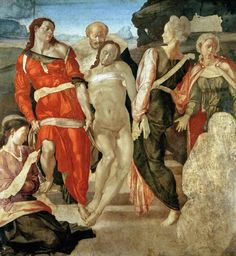 Michelangelo (Buonarroti) - The Entombment (unfinished) (panel)