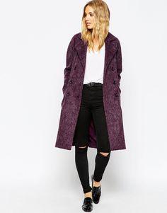 ASOS Coat In Cocoon Fit